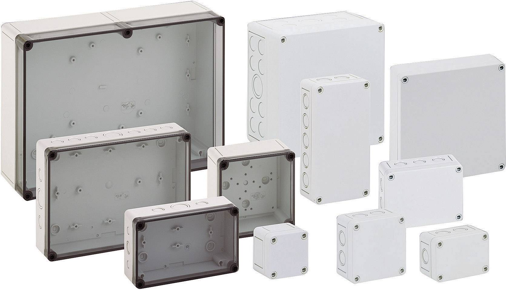 Plastové krabice pre montáž na stenu