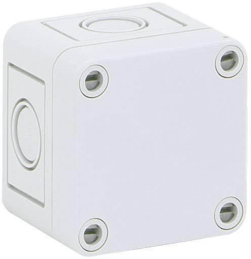 Inštalačná krabička Spelsberg TK PS 77-6-m 10540101, (d x š x v) 65 x 65 x 57 mm, polystyrén, svetlo sivá (RAL 7035), 1 ks