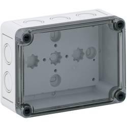Inštalačná krabička Spelsberg TK PS 1309-6-tm 10600901, (d x š x v) 130 x 94 x 57 mm, polykarbonát, polystyren (EPS), svetlo sivá (RAL 7035), 1 ks