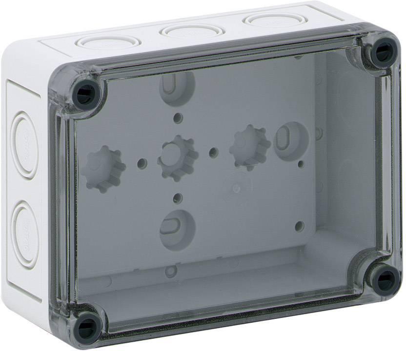 Instalační krabička Spelsberg TK PS 1309-6-tm, (d x š x v) 130 x 94 x 57 mm, polykarbonát, polystyren, šedá, 1 ks