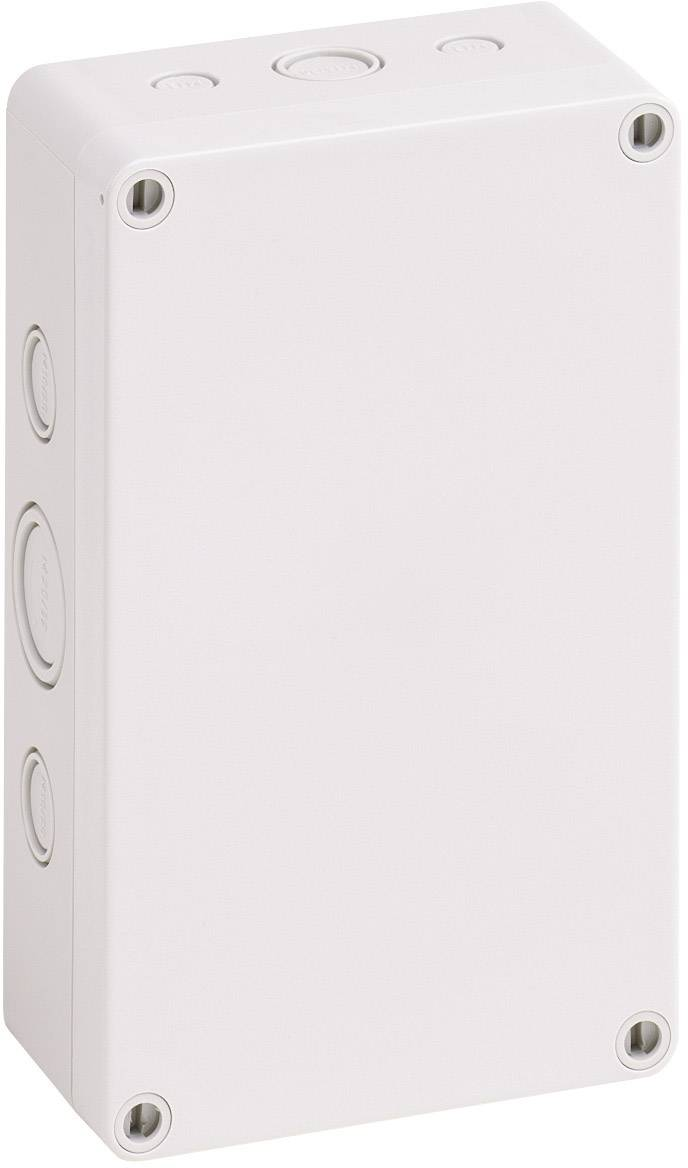 Inštalačná krabička Spelsberg TK PS 1811-6f-m 10541401, (d x š x v) 180 x 110 x 63 mm, polystyrén, svetlo sivá (RAL 7035), 1 ks