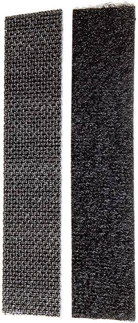 Lepiaci pásik so suchým zipsom Fastech FAST-LOC 20x100, (d x š) 100 mm x 20 mm, čierna, 1 pár