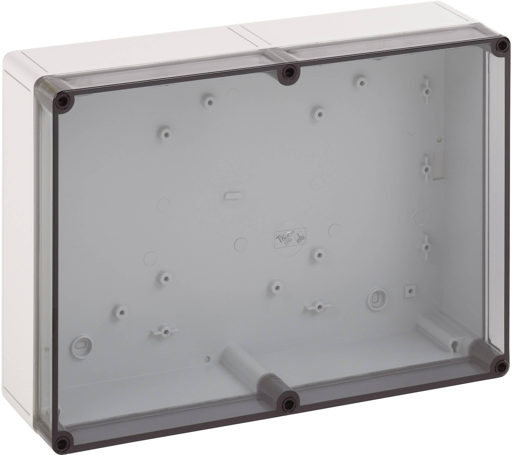 Inštalačná krabička Spelsberg TK PS 1309-6-t 11100901, (d x š x v) 130 x 94 x 57 mm, polykarbonát, polystyrén, svetlo sivá (RAL 7035), 1 ks