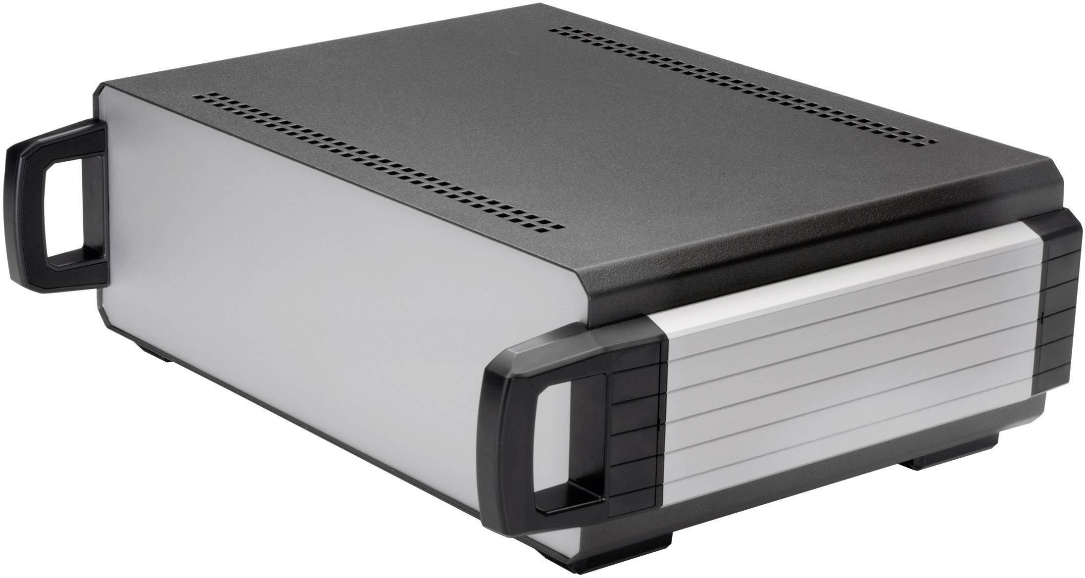 Stolní pouzdro hliníkové Axxatronic 31110001-CON, (d x š x v) 150 x 140 x 70 mm, antracitová