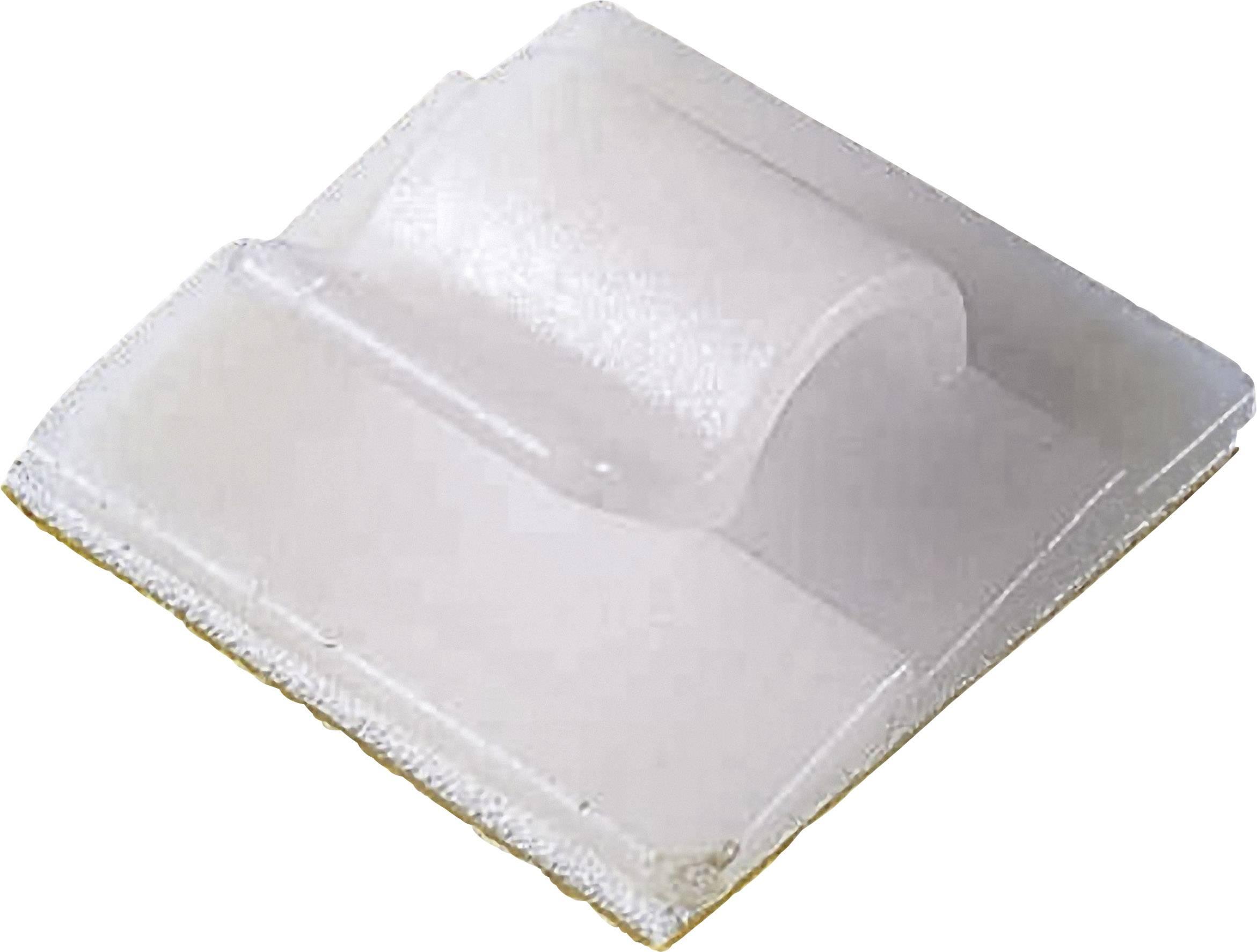Spona na uchytenie káblu/ov PB Fastener 5436 5436, samolepiaci, 15 mm (max), prírodná, 1 ks