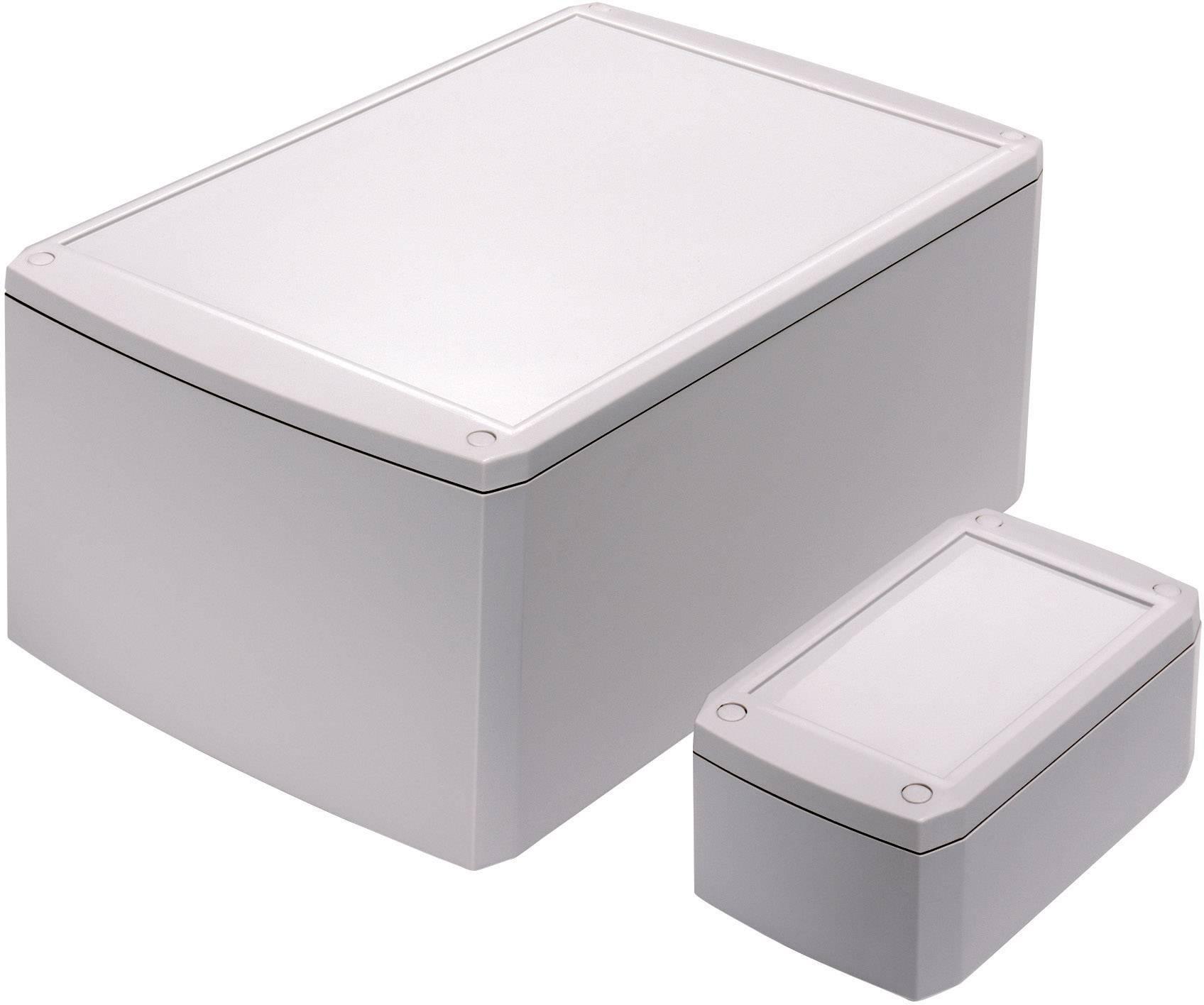 Univerzální pouzdro ABS Axxatronic, (d x š x v) 125 x 75 x 50 mm, šedá
