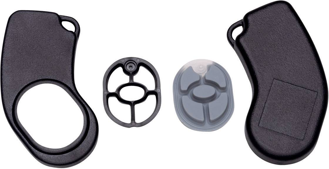 Plastová krabička Axxatronic 24080222-CON, 72 x 32 x 9.5 mm, ABS, čierna, 1 ks