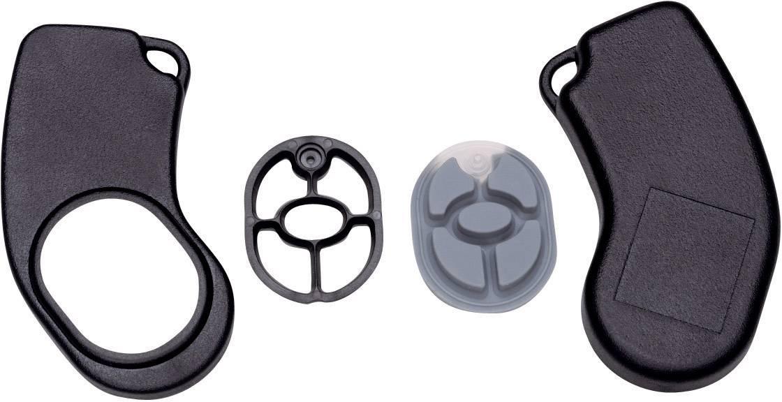 Plastová krabička Axxatronic 24080224-CON, 72 x 32 x 9.5 mm, ABS, čierna, 1 ks