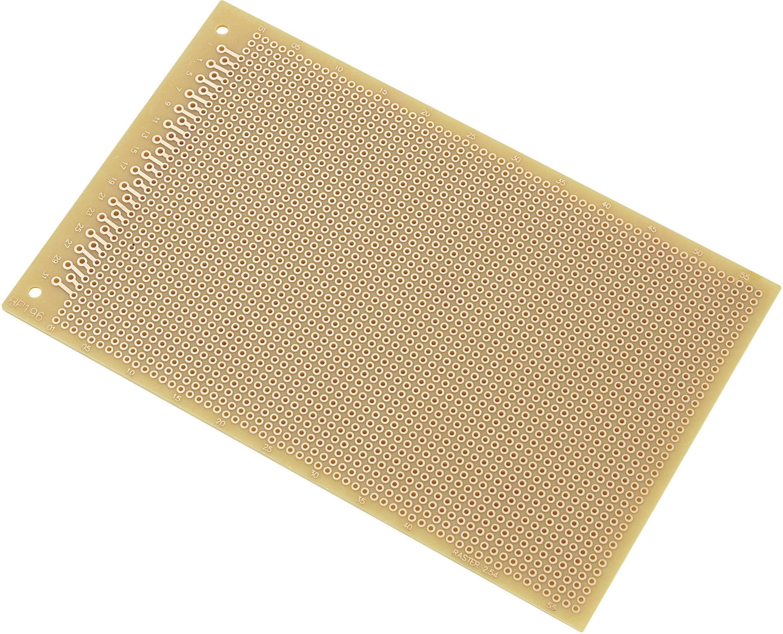Euro deska z tvrdého papíru, SU528196, (D x Š) 160 mm x 100 mm, rozměr rastru 2,54 mm