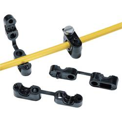 Odľahčenie ťahu HellermannTyton KK2-N66-BK-D1, Ø 6.7 mm, polyamid 6.6, čierna, 1 ks