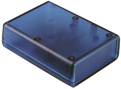 Plastová krabička Hammond Electronics 1593QTBU, 112 x 66 x 28 mm, ABS, modrá (transparentná), 1 ks