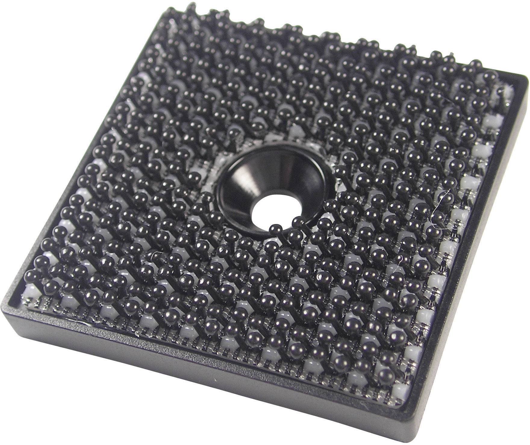 Na naskrutkovanie štvorcový suchý zips Binder Band 76768, (d x š) 32 mm x 32 mm, čierna, 1 ks