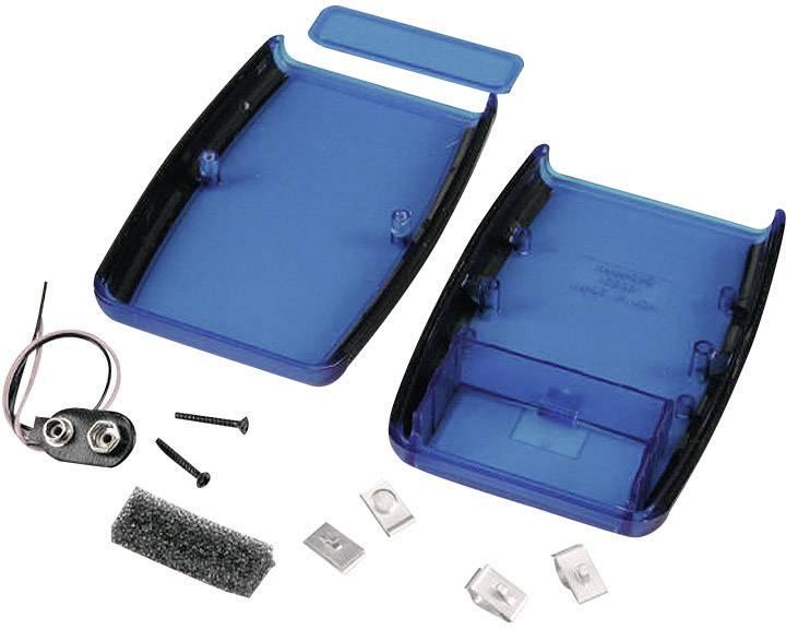 Plastová krabička Hammond Electronics 1553DTBUBKBAT, 147 x 89 x 24 mm, ABS, modrá, 1 ks
