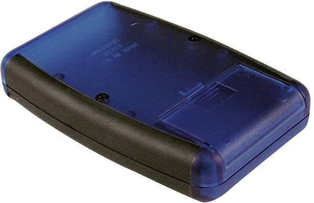 Plastová krabička Hammond Electronics 1553BBK, 117 x 79 x 24 mm, ABS, čierna, svetlo sivá (RAL 7035), 1 ks