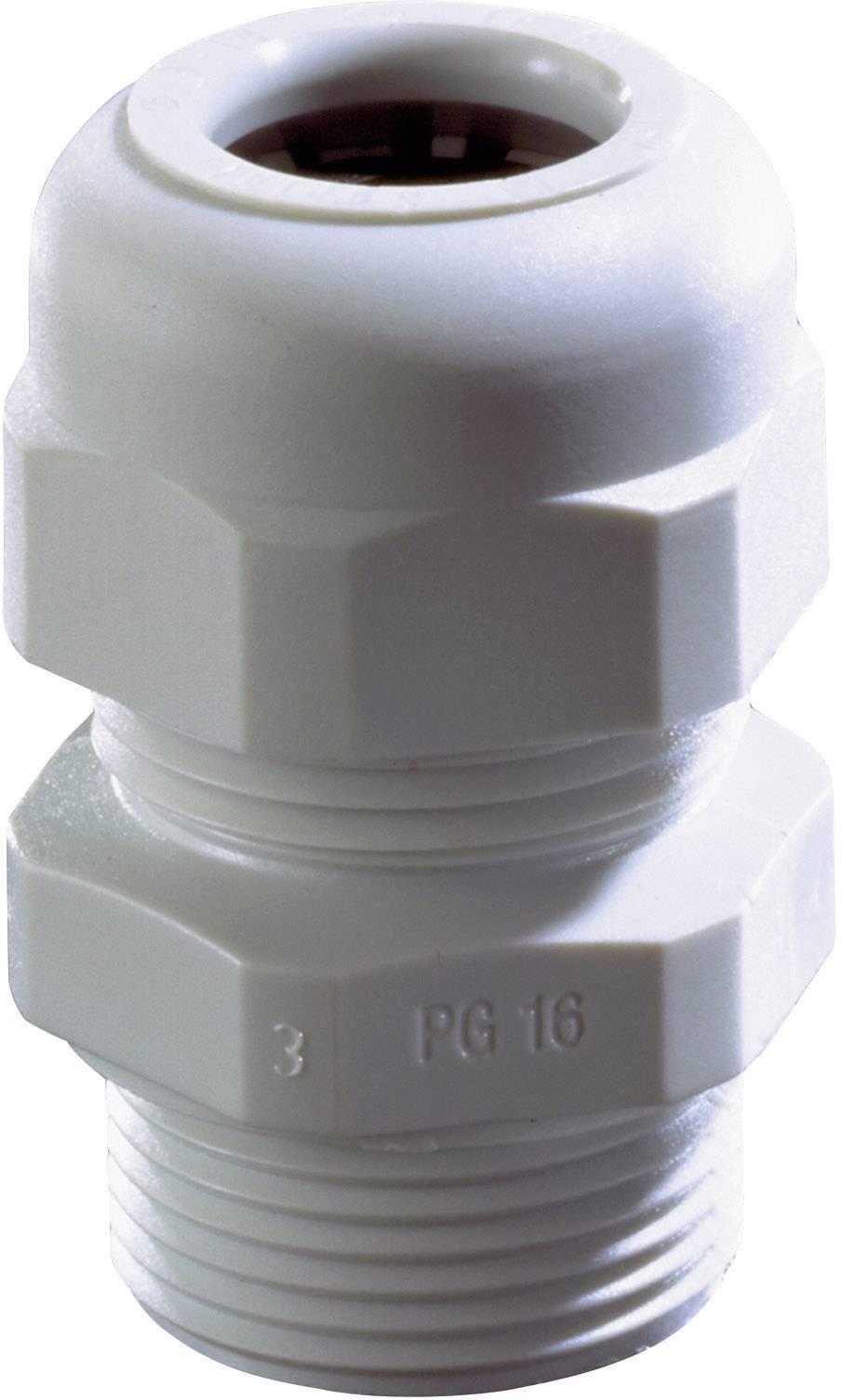 Káblová priechodka Wiska SKV PG 16 RAL 9005, polyamid, čierna, 1 ks