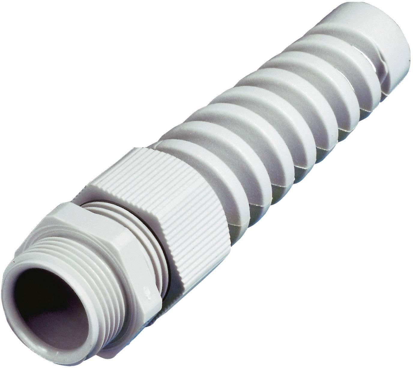 Káblová priechodka Wiska SKVS PG 16 RAL 7035;s odľahčením ťahu, s ochranou pred zlomením, polyamid, svetlo sivá, 1 ks