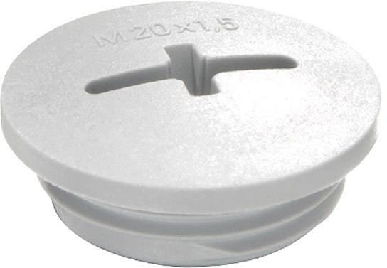 Záslepka Wiska EVSG M12 RAL 7035, polyamid, 1 ks