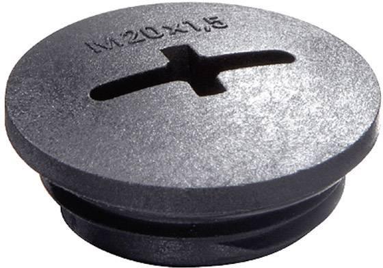 Záslepka Wiska EVSG M12 RAL 9005, polyamid, 1 ks