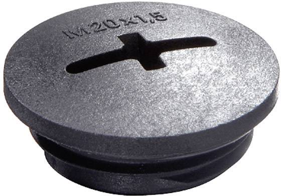Záslepka Wiska EVSG M63 RAL 9005, polyamid, 1 ks