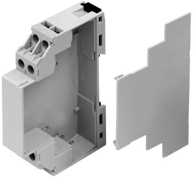 Pouzdro do lišty modulární Axxatronic CMEB (CMEB-CON), 90 x 17,5 x 58 mm