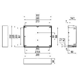 Svorkovnicová skříň polykarbonátová Spelsberg TG PC 3023-9-to, (d x š x v) 302 x 232 x 90 mm, šedá