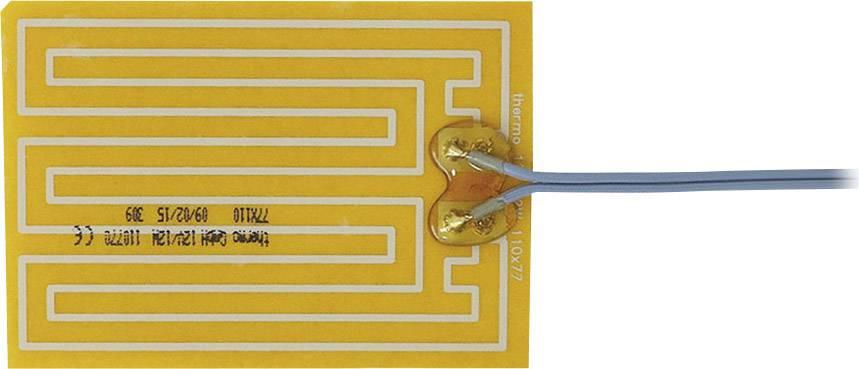Tepelná fólie samolepicí Thermo 12 V/DC, 12 V/AC, 12 W, krytí IPX4, (d x š) 110 mm x 77 mm