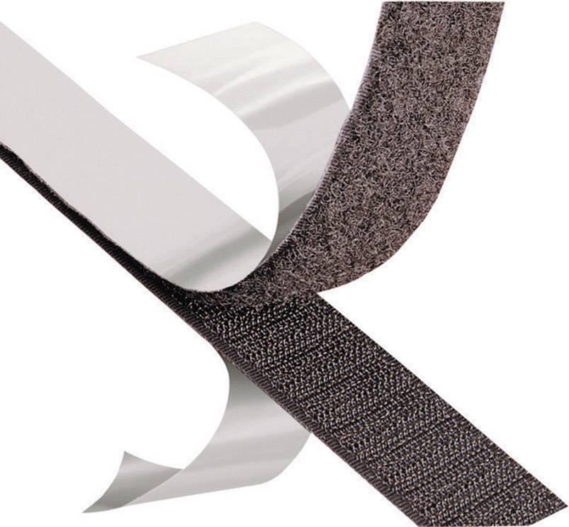 Samolepicí páska se suchým zipem (plyš) 3M SJ 3527N, černá, 1 m