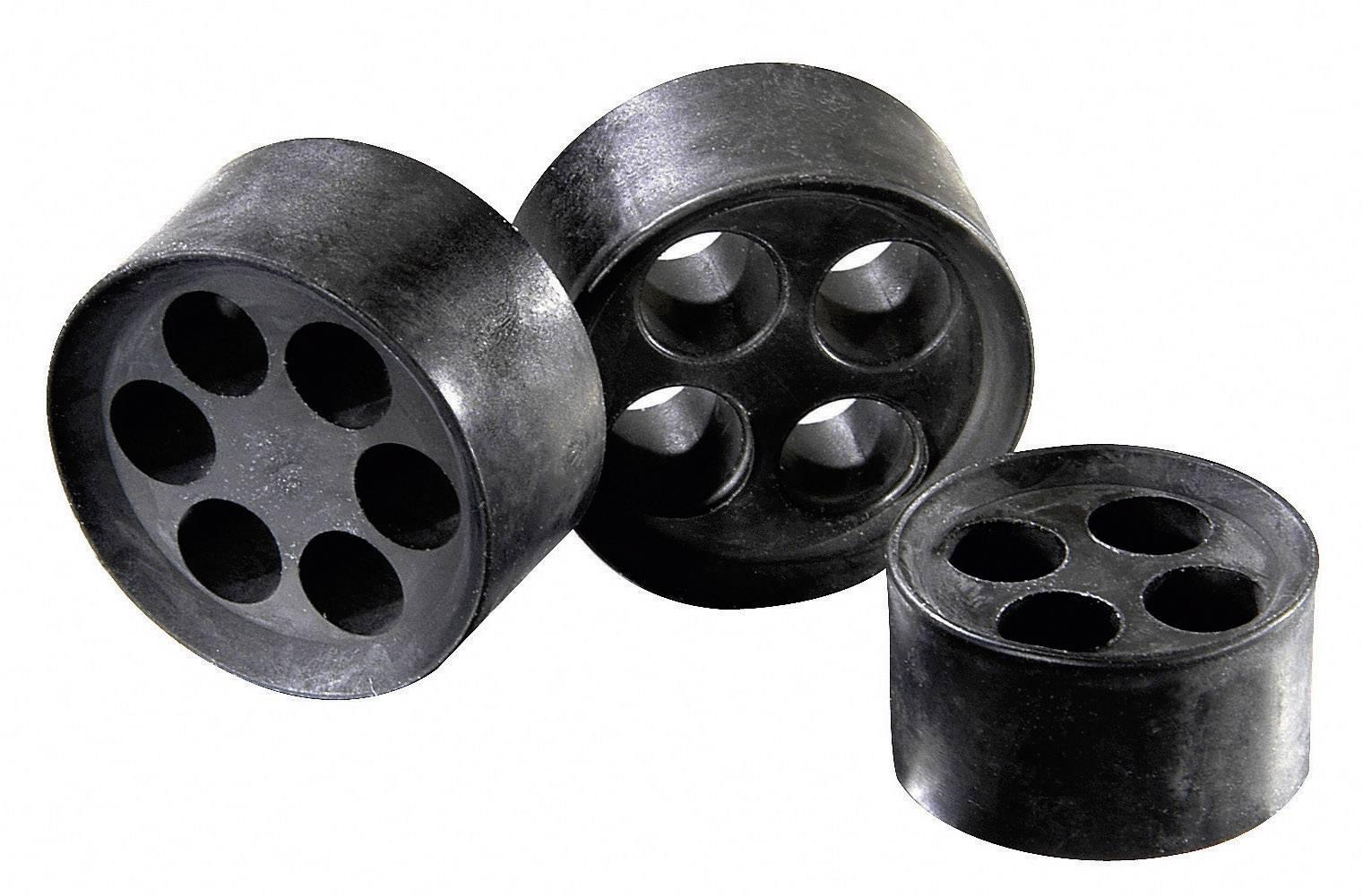 Tesniaca vložka s viacerými priechodmi Wiska MFD 12/04/020, M12, elastomér, 1 ks
