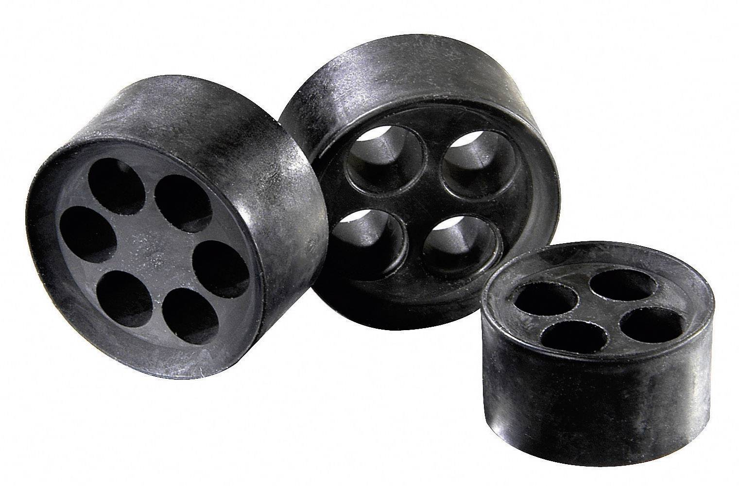 Tesniaca vložka s viacerými priechodmi Wiska MFD 40/08/060, M40, elastomér, 1 ks