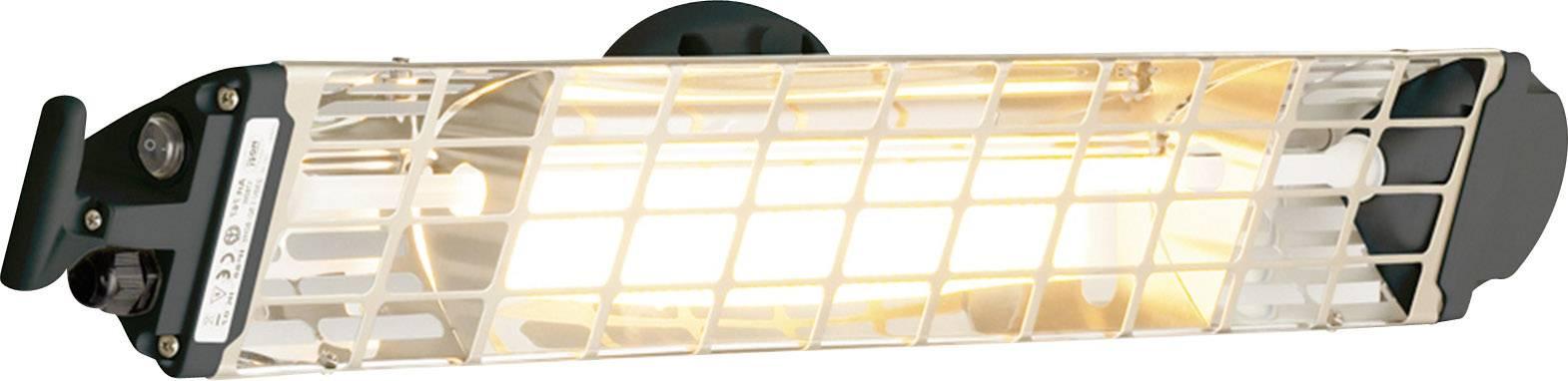 Halogénový infračervený žiarič Mo-el FIORE 1800 1800 W, 9 m², čierna
