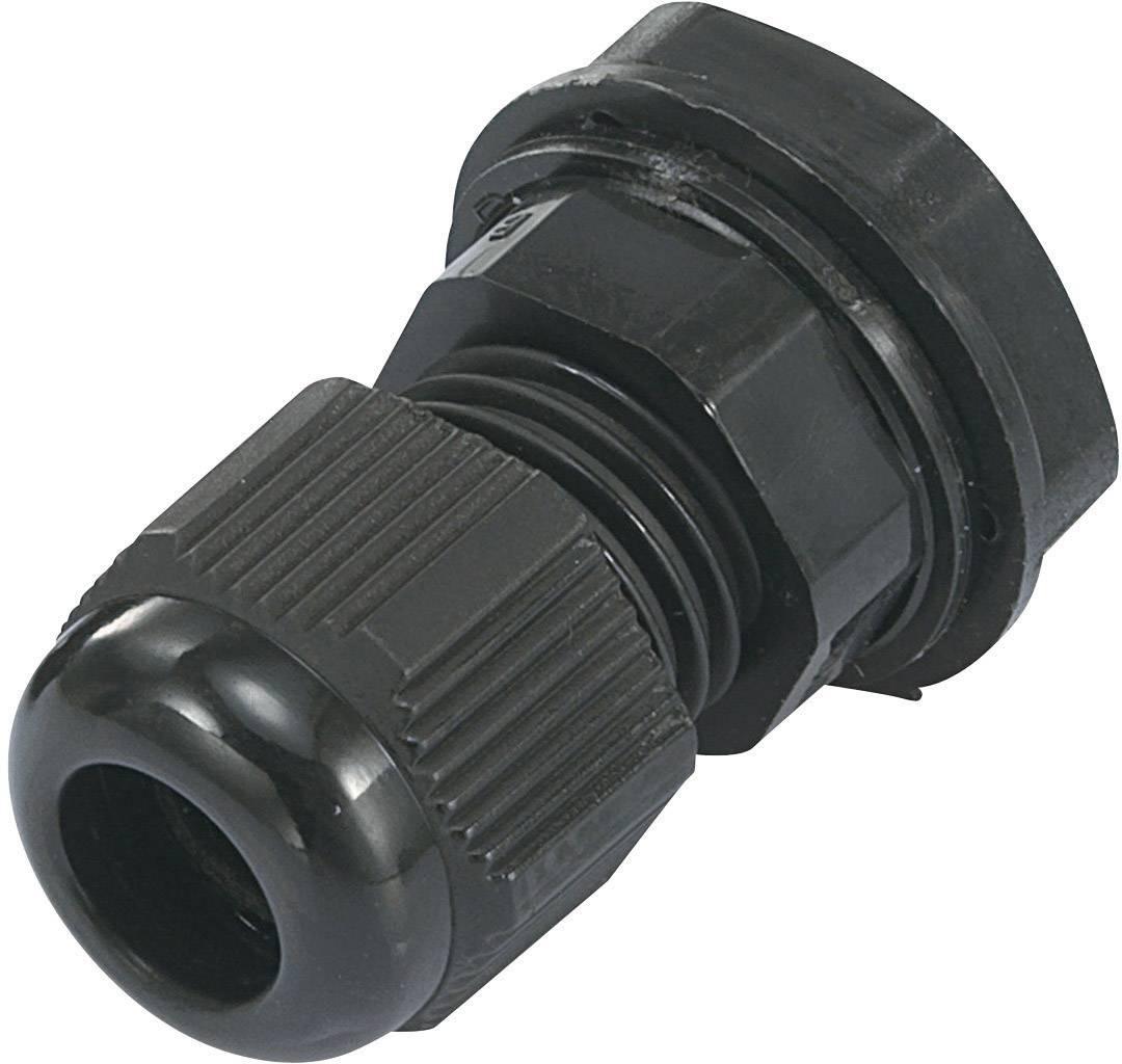 Káblová priechodka TRU COMPONENTS TC-EGRWW21203, polyamid, čierna (RAL 9005), 1 ks
