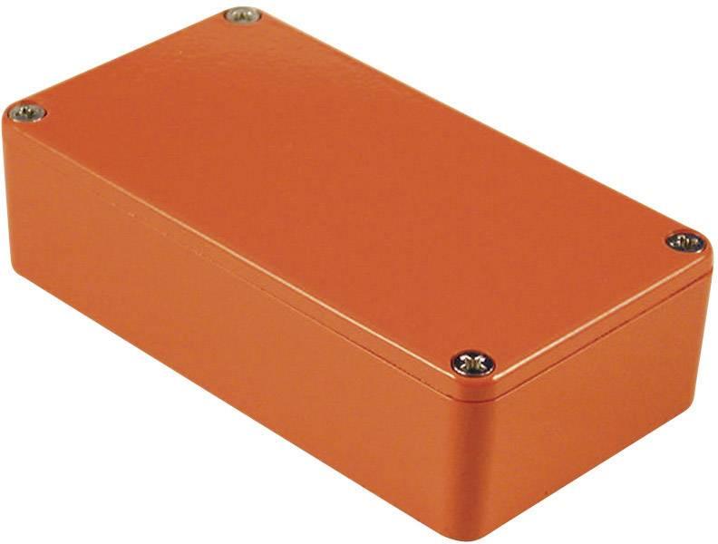Univerzálne púzdro Hammond Electronics 1590BOR 1590BOR, 111.5 x 59.5 x 31 , hliník, oranžová, 1 ks