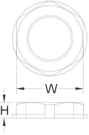 Pojistná matice KSS AGRL16, polyamid, černá (RAL 9005)
