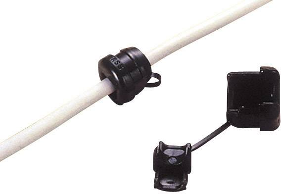 Odľahčenie ťahu KSS SRR-F42, Ø 7.1 mm, polyamid, čierna, 1 ks