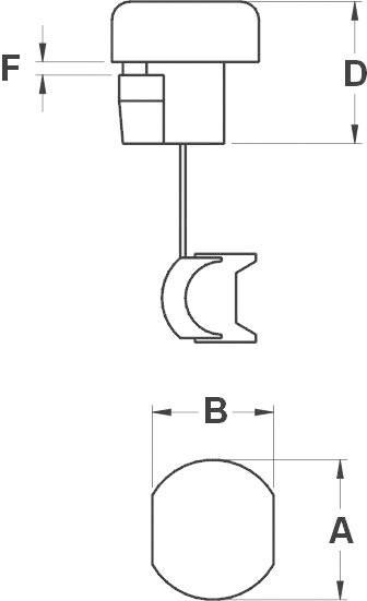 KSS Kabelska objemka SR-F SR-F21 za kabel- 2.3 x 4.5 - 2.8 x 5.3 mm, črna