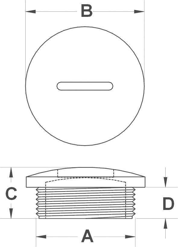 Záslepka KSS MSPR12, polyamid, 1 ks