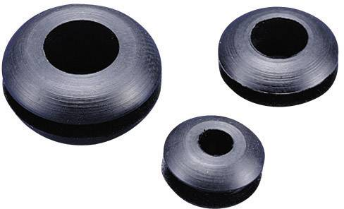 Káblová priechodka KSS GMR0603, Ø 3 mm, PVC, čierna, 1 ks