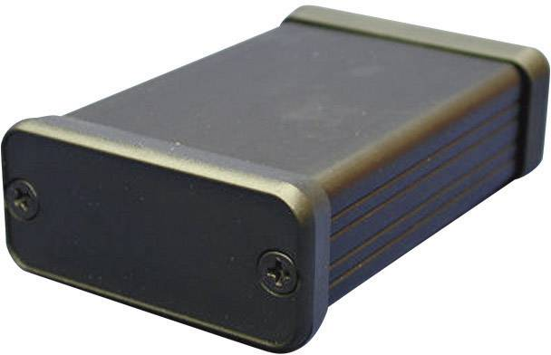 Profilové puzdro Hammond Electronics 1455T2201BK 1455T2201BK, 223 x 160 x 51.5 , hliník, čierna, 1 ks