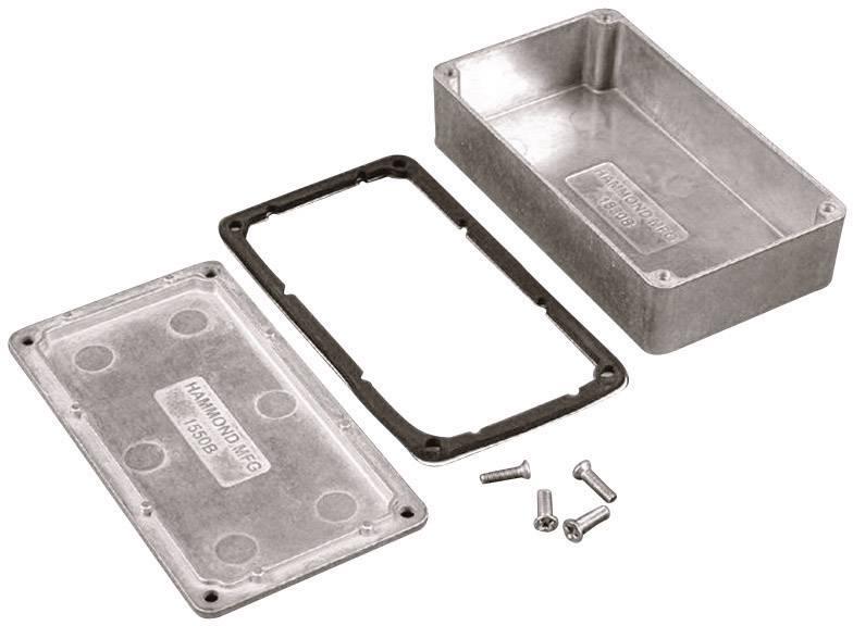 Univerzální pouzdro hliníkové Hammond Electronics 1550WLBK, (d x š x v) 165 x 127 x 76 mm, černá