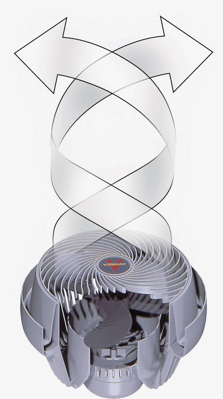 Podlahový ventilátor Vornado 530, /O 19 cm, 45 W, čierna