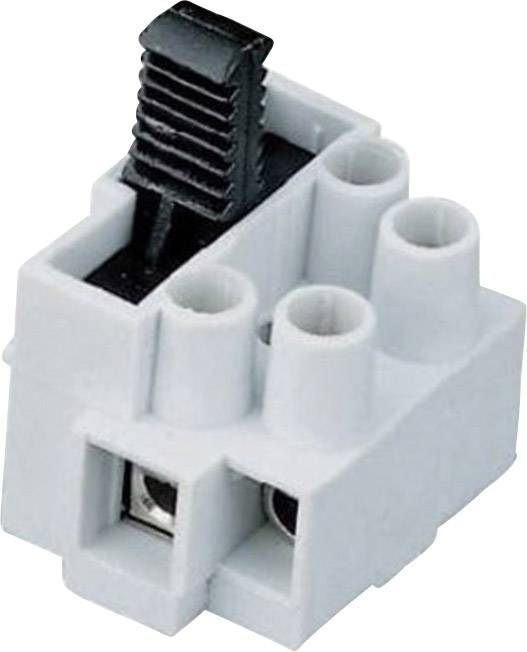 Svietidlové svorky Adels-Contact 503 SI/2 DS na kábel s rozmerom 0.5-2.5 mm², pólů 2, 1 ks, prírodná