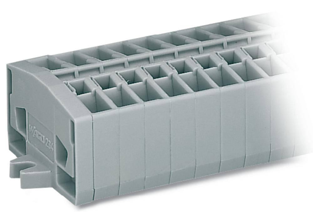 Svorková lišta WAGO 264-110, osazení: L, pružinová svorka, 6 mm, šedá, 50 ks