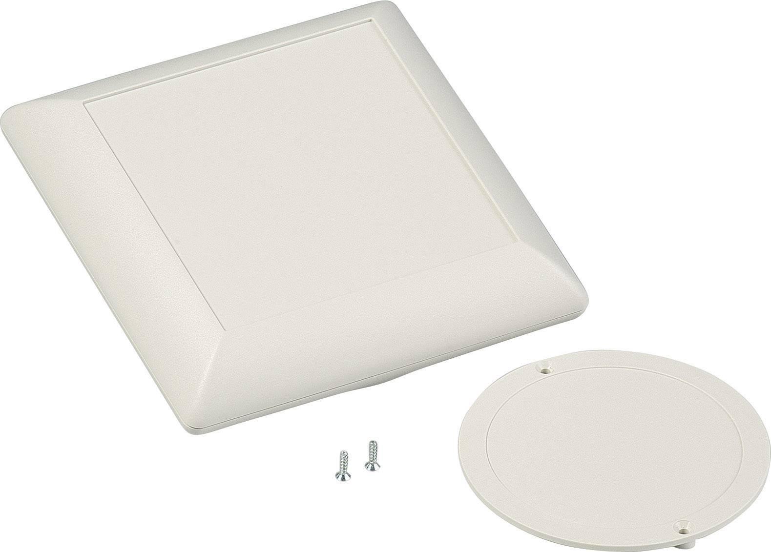 Skrinka na ovládací pult OKW Art-Case D5012247, 110 x 110 x 39 mm, ABS, sivobiela (RAL 9002), 1 sada
