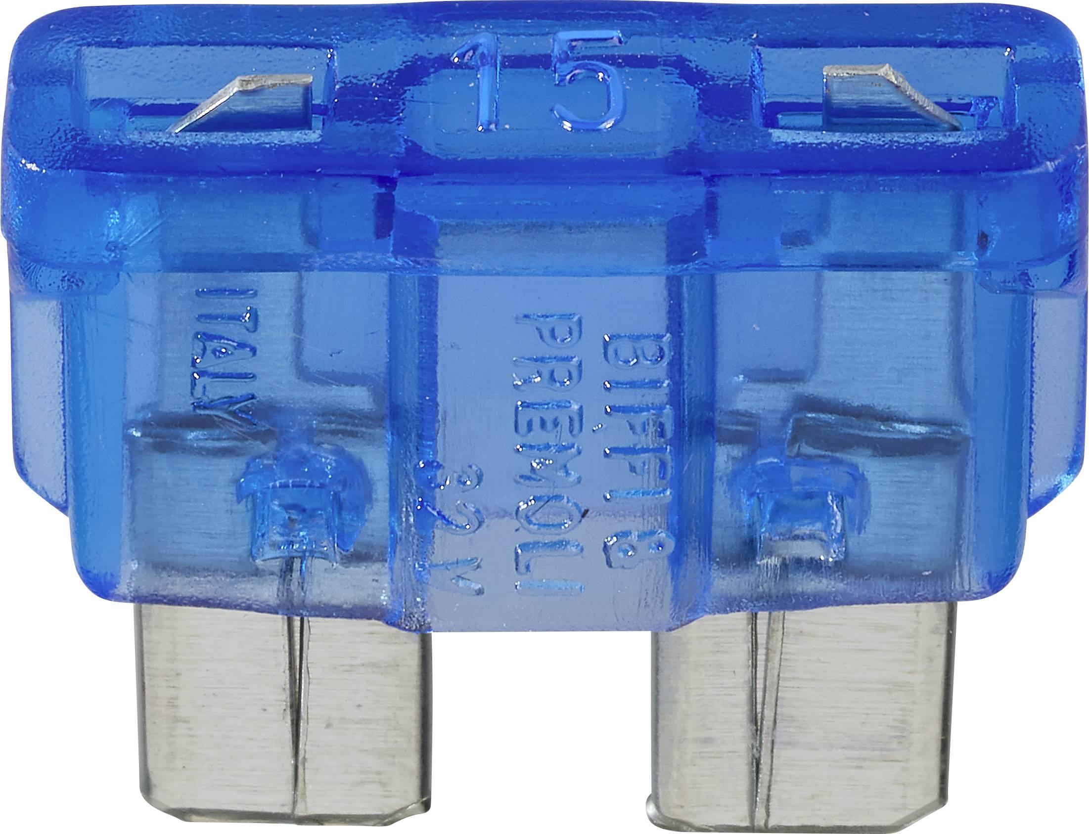 Plochá pojistka ESKA 535119, 15 A, modrá