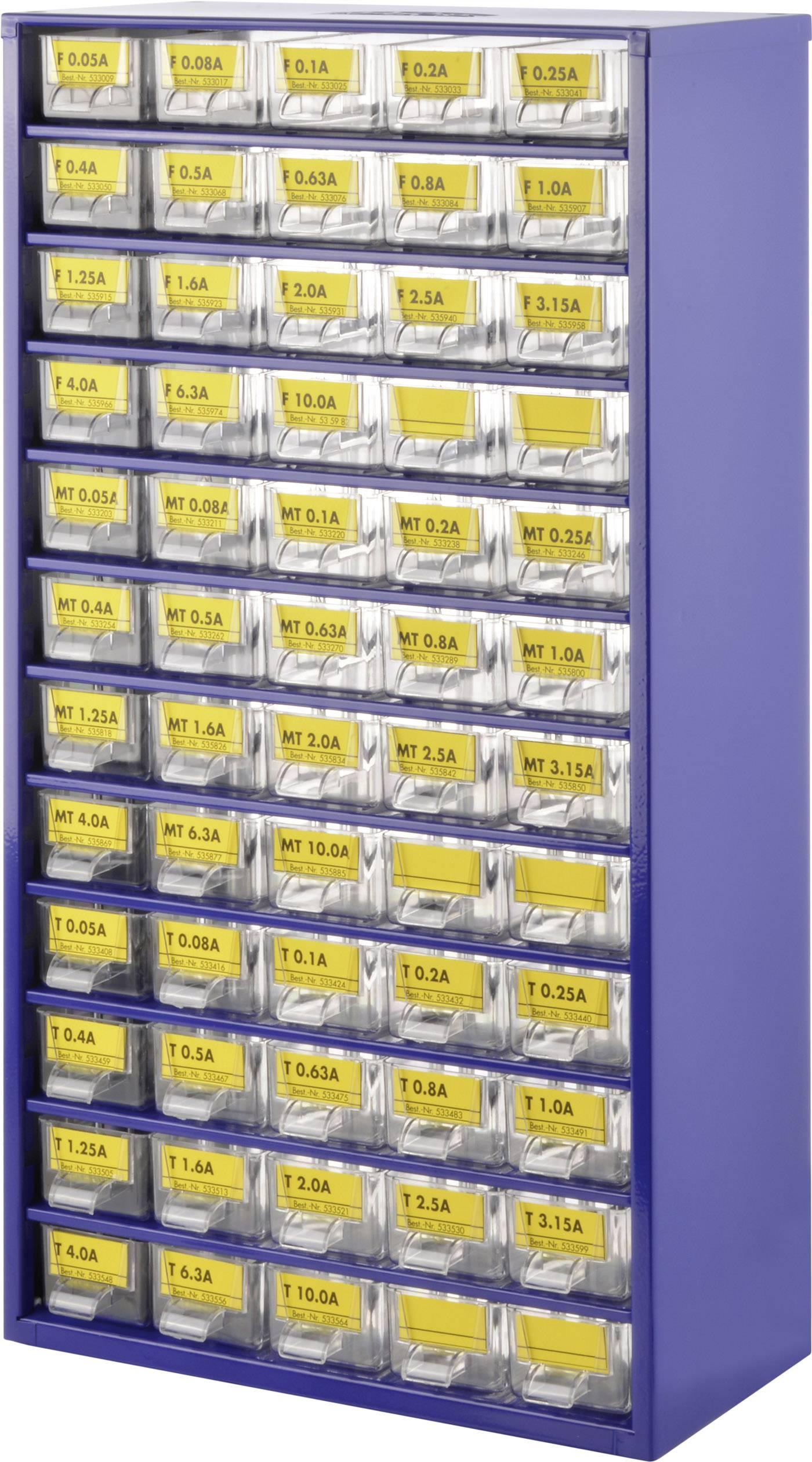 Sada jemných poistiek v zásobníku do dielne (Ø x d) 5 mm x 20 mm, 540 ks