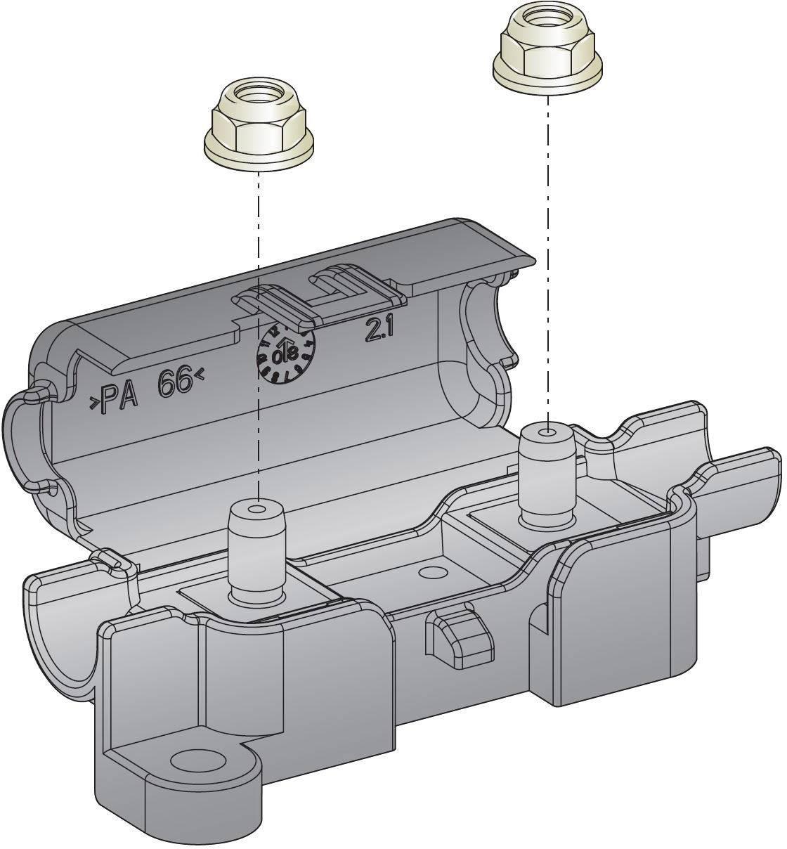 Držák pojistky ESKA 1.003600, 32 V/DC, 70 x 25 x 22 mm