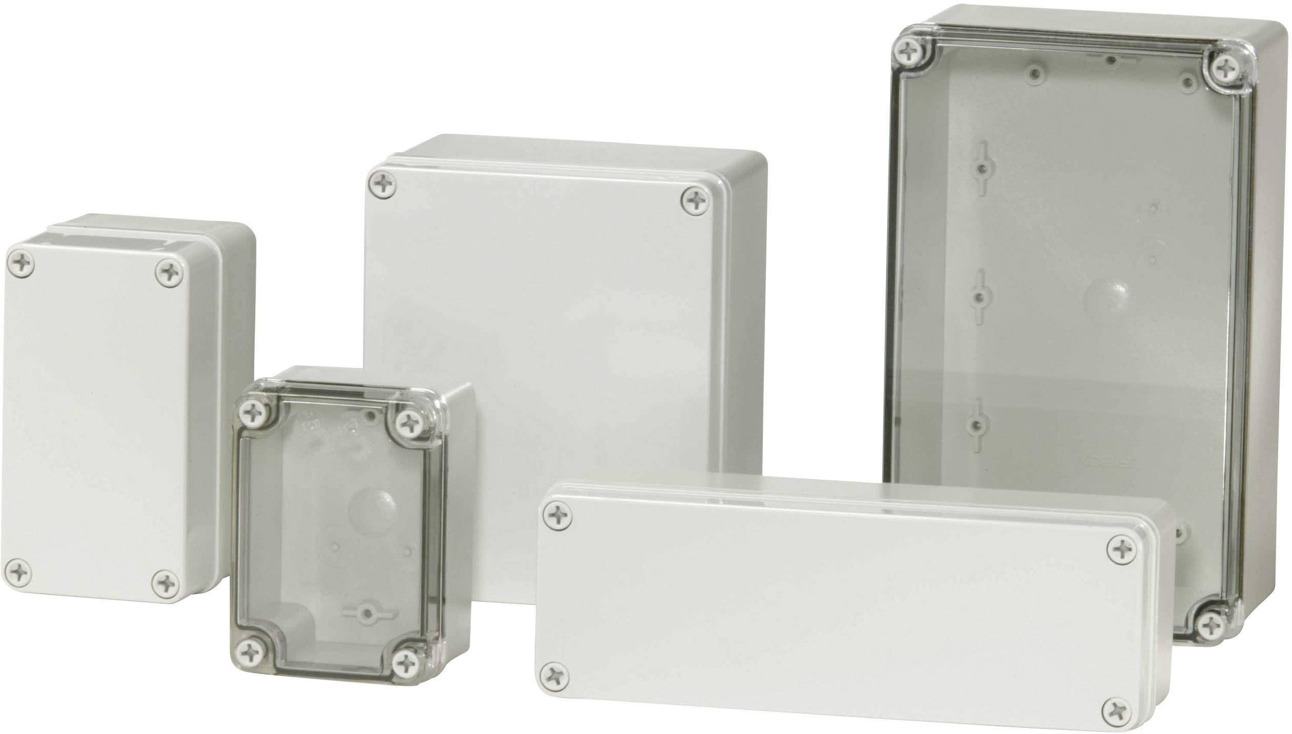 Inštalačná krabička Fibox PICCOLO PC H 95 T, (d x š x v) 170 x 140 x 95 mm, polykarbonát, svetlo sivá (RAL 7035), 1 ks