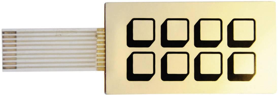 Fóliová klávesnica samolepiace 2 x 4 FT08, 1 ks