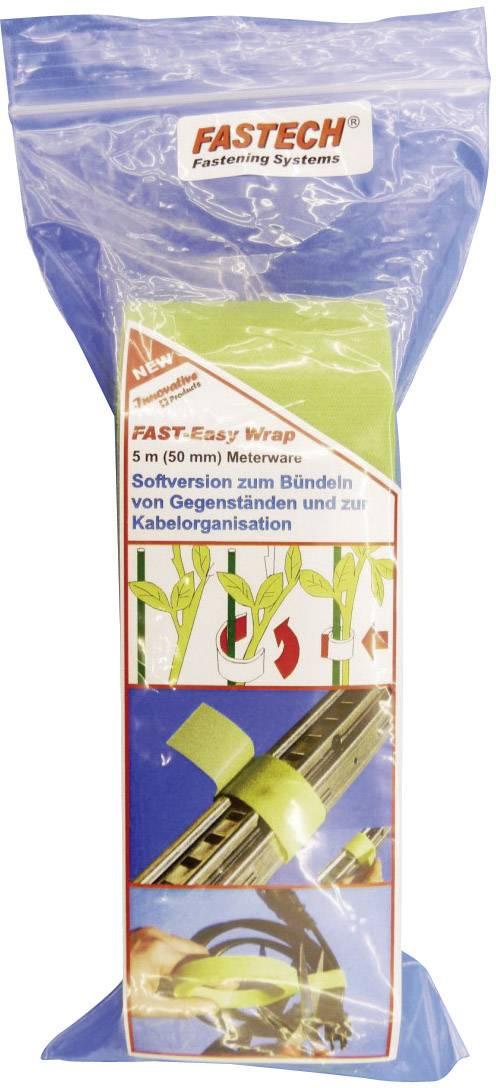 Pásik so suchým zipsom Fastech 705-322-Bag, (d x š) 5000 mm x 50 mm, zelená, 1 roliek