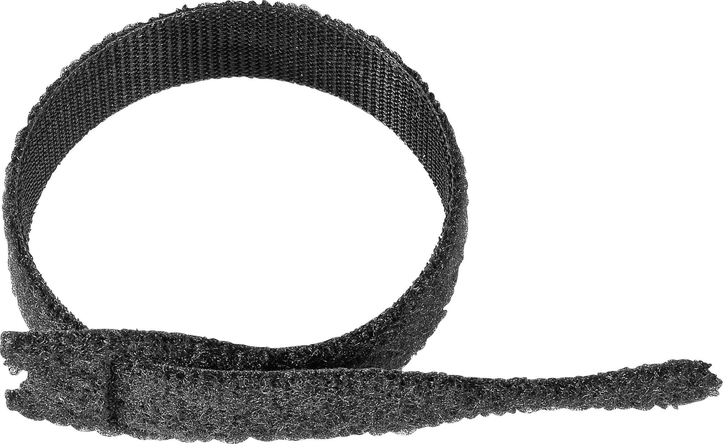 Káblový manažér na suchý zips VELCRO® brand ONE-WRAP Strap®, (d x š) 200 mm x 20 mm, čierna, 1 ks